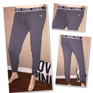 VS PINK Gray leggings sweatpants SMALL